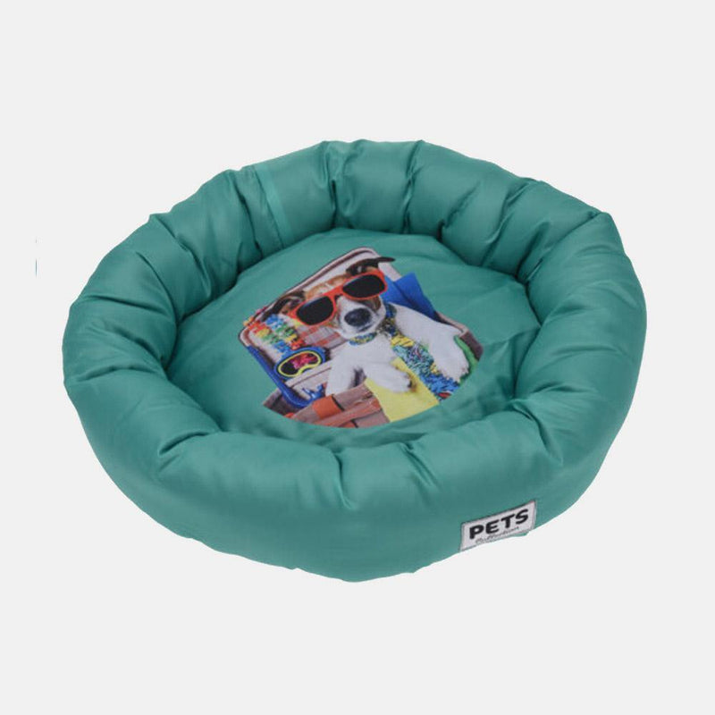 Round Pet Bed turquoise