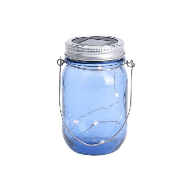 ECO Solar Powered Glass Jar Light with Hanger