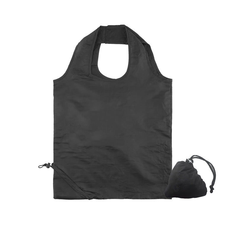 Foldable & Reusable Shopper Bag | Black - 100 per set