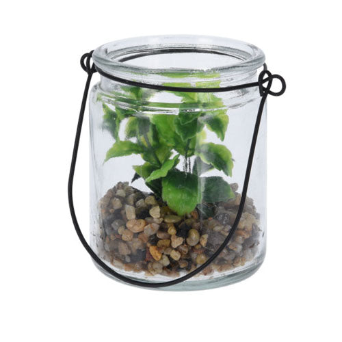 Artificial Plant in Glass Pot