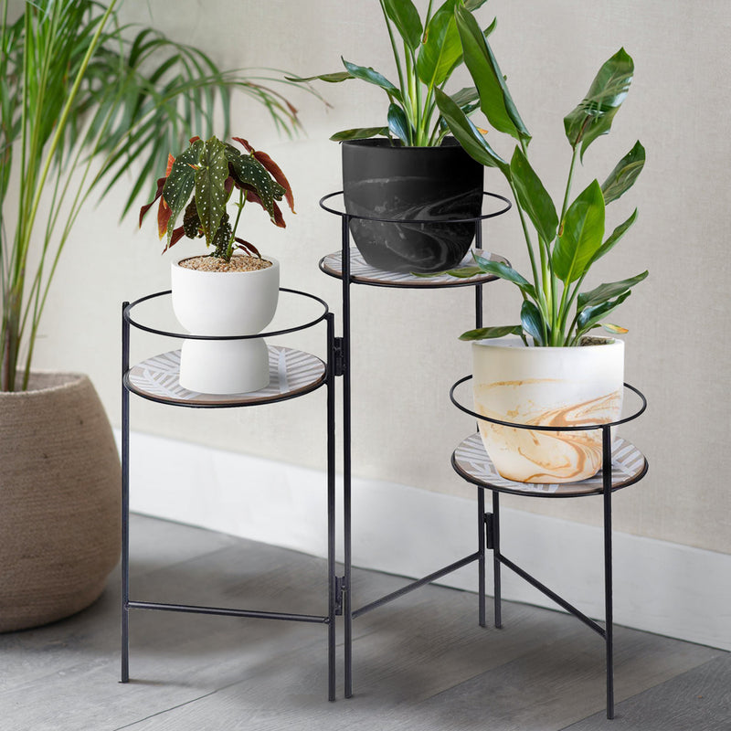 Metal Foldable Plant Holder Stand - 3 Plants