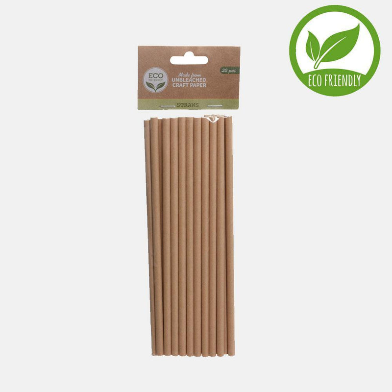 Unbleached Craft Paper Straws