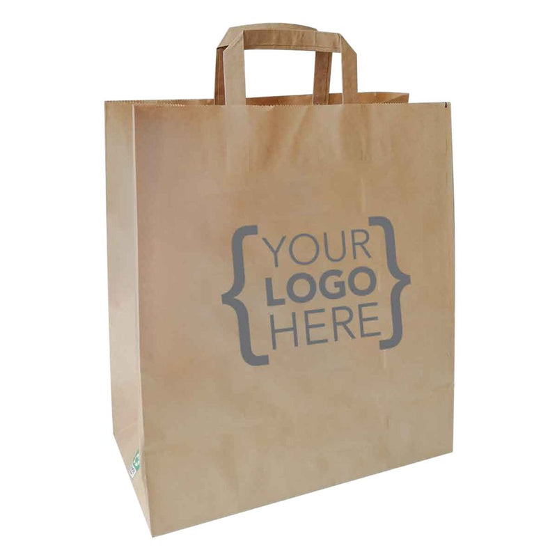 Bulk Printed Paper Carrier Bag with Handle