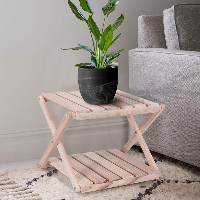 ECO 2 Tier Wooden Foldable Side Table