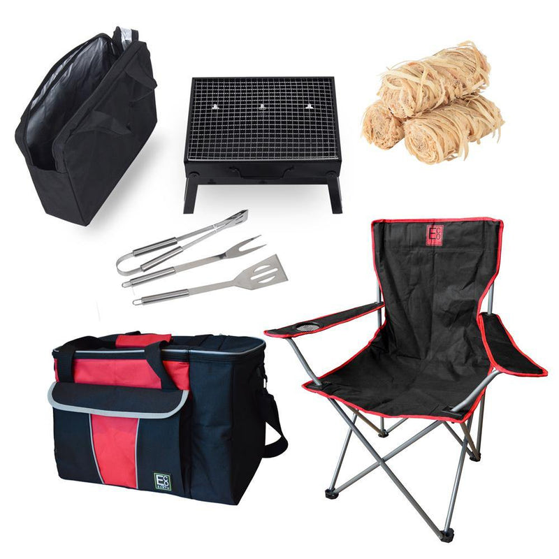 Set Of 7 Outdoor Combo red
