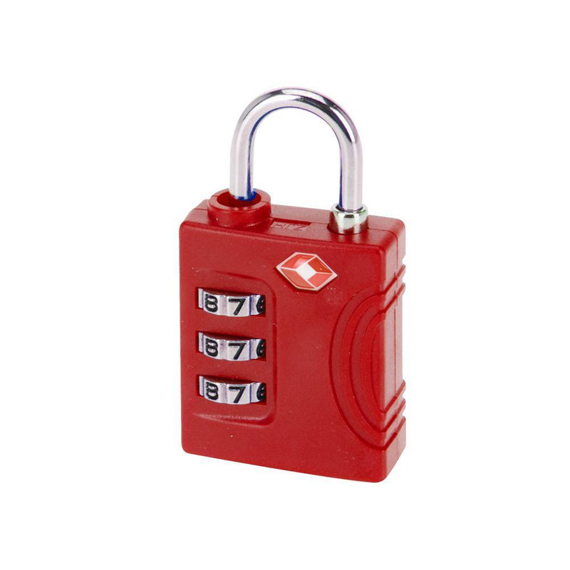3 Dial Combination TSA Lock | Red