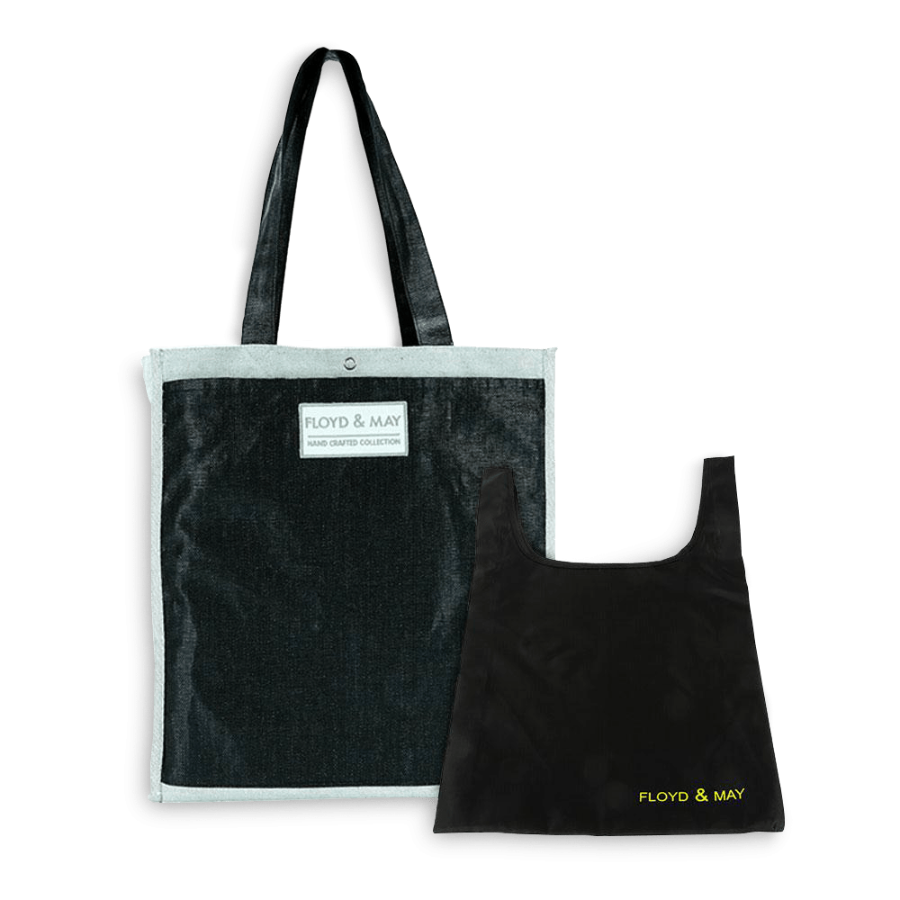 Floyd and may reusable grocery bags