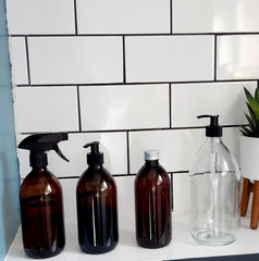 4 sizes of bottles available at RESTORE BATH