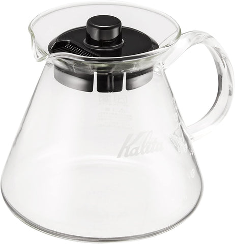 Kalita (Carita) Coffee Server I Pour Over Carafe I 500ml (17oz) I Pot Fits Kalita Drippers I Heat Resistant Glass I Made in Japan I, Single Cup, Clear