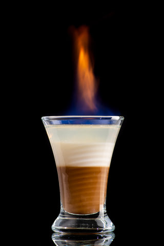 Flaming Spanish Coffee (The American version of Carajillo)