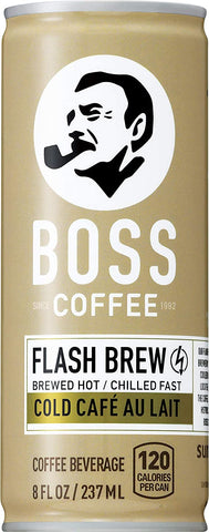 BOSS Coffee by Suntory - Japanese Flash Brew Coffee with Milk, 8oz 12 Pack, Imported from Japan, Au Lait, Espresso Doubleshot, Ready to Drink, Contains Milk, No Gluten