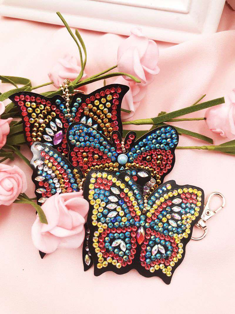 Key ring Butterfly 4 pieces