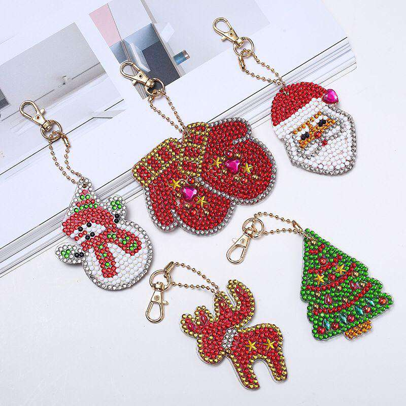 Key ring Christmas 5 pieces