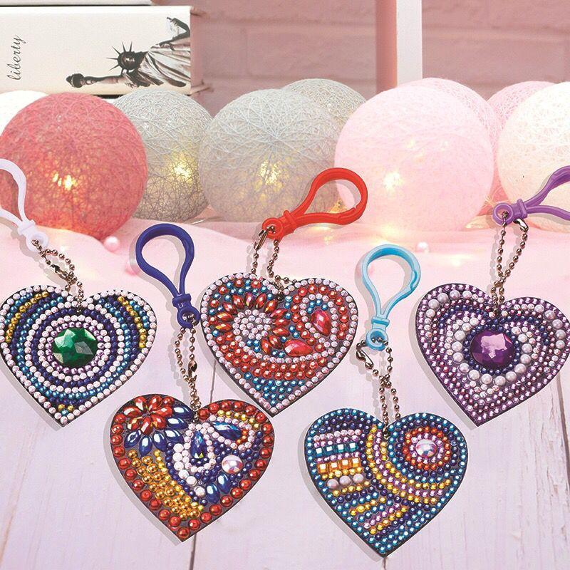 Key ring Hearts 5 pieces