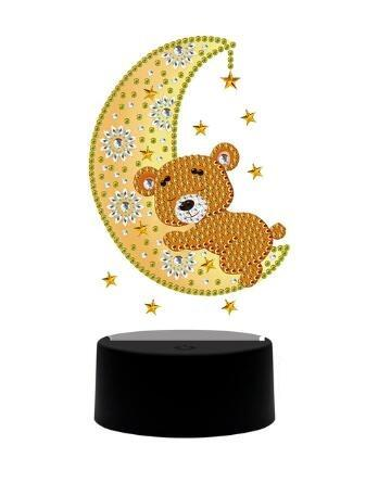 DP Lamp Teddy Bear Hugging The Moon