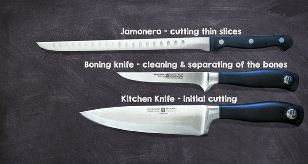 tools for cutting jamon