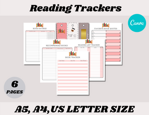Reading Tracker Canva Template (OK for Commercial Use)