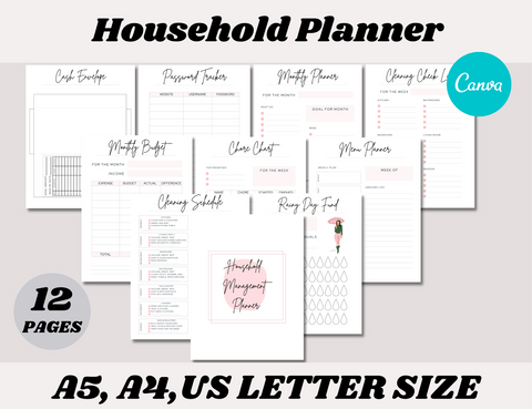Household Canva Template Bundle (OK for commercial use)