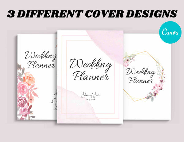 Pink Wedding Planner Canva Template (OK for Commercial Use)