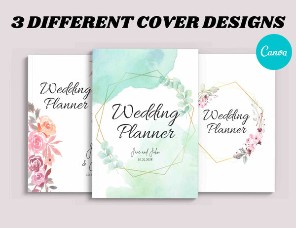 Green Wedding Planner Canva Template (OK for Commercial Use)