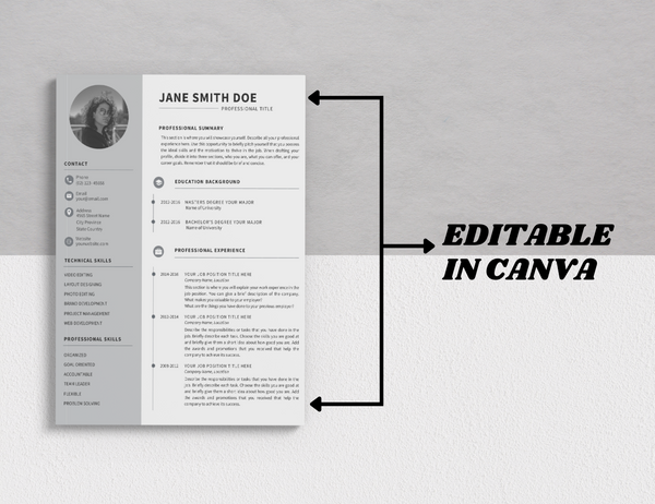 Resume Template Canva Bundle (OK for Commercial Use)