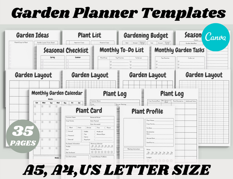 Garden Planner Canva Template (OK for Commercial Use)