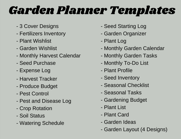 Garden Planner Canva Template with Color Design (OK for Commercial Use)