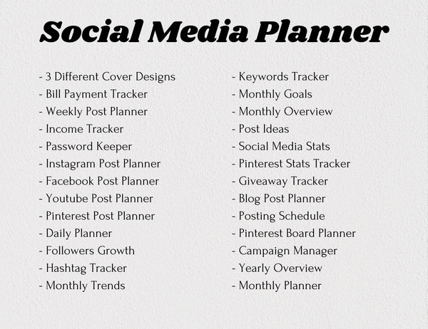 Social Media Planner Canva Template (OK for Commercial Use)
