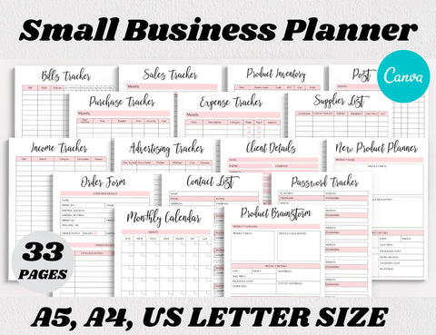 Small Business Planner Canva Template (OK for Commercial Use)