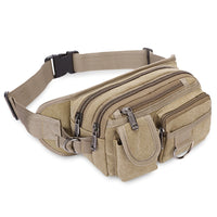 Men Canvas Waist Pack Male Casual Style Fanny Bum Bag