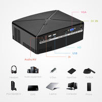 Mini LED Portable HD Projector for Home Cinema