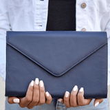 The Heather Leather Envelope Clutch