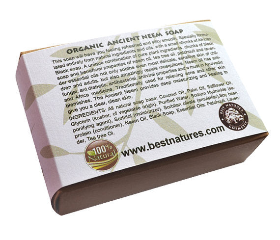 Organic Ancient Neem Soap.  Natural SLS Free.