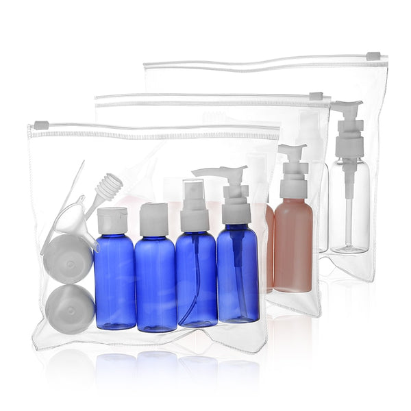 7pc/set  10pc/set  Portable Travel Cosmetic Bottle Kit