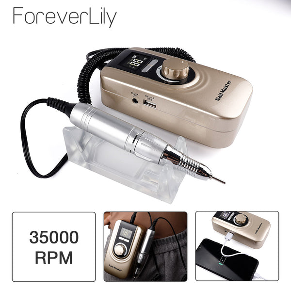 35000RPM Portable Manicure Drill Set