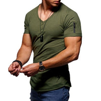Tops Arm zipper T-Shirts