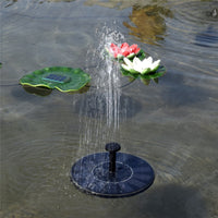 Solar Power Floating Fountain