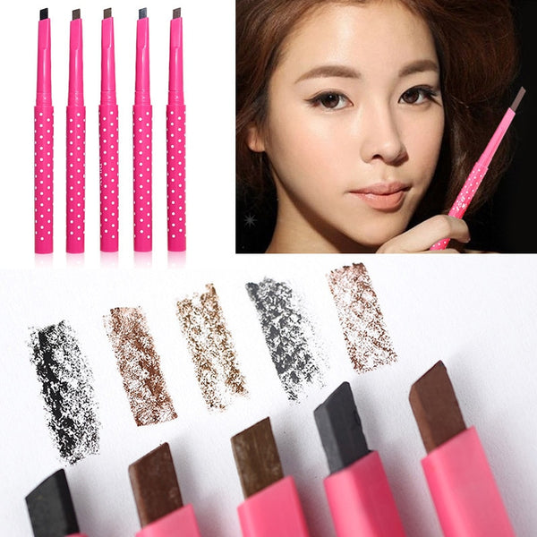1pcs Waterproof Long Lasting Black Brown Eyebrow Pencil