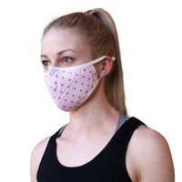 Cotton Face Mask Pink Stars