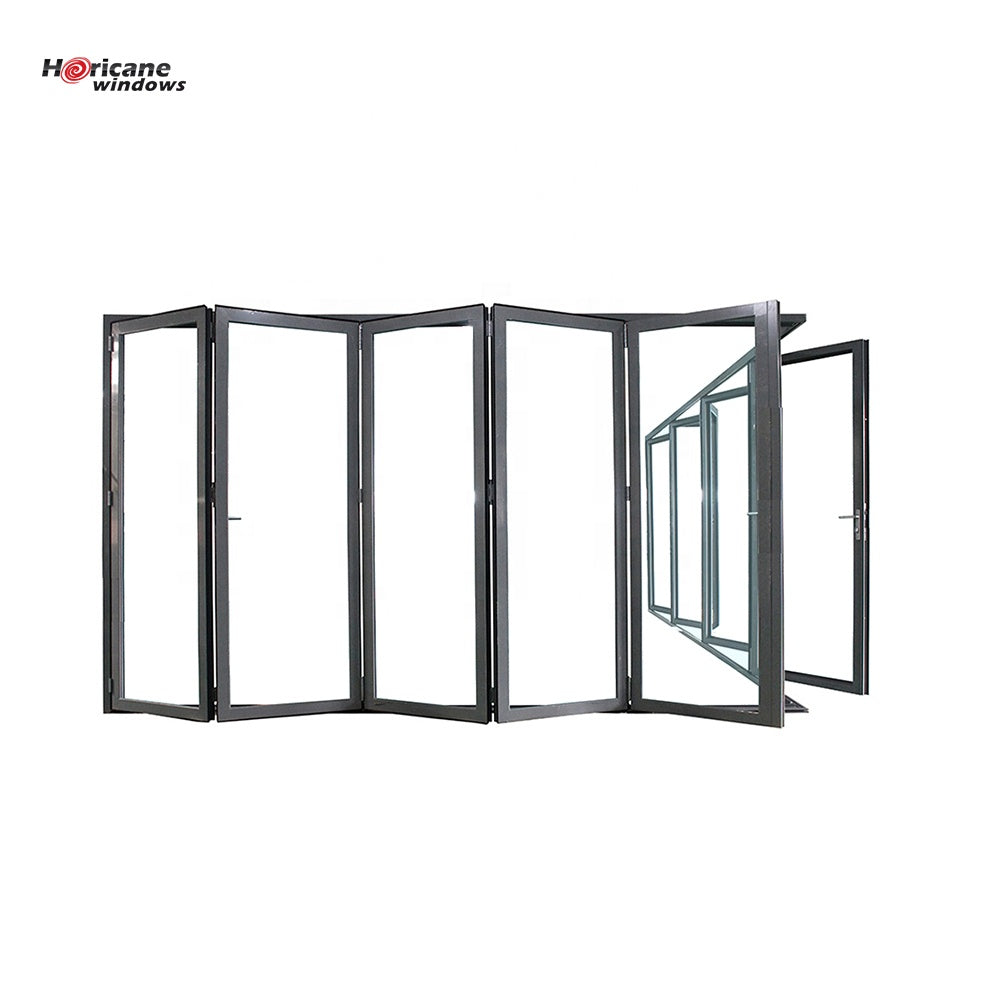 Superhouse 2021NFRC AS2047 standard China commercial big aluminum glass panel accordion folding door