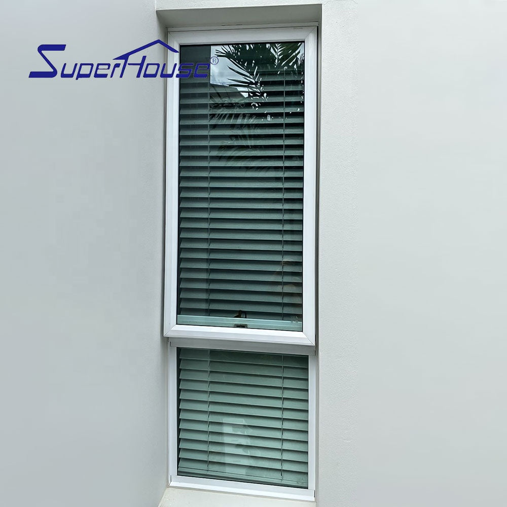 Superhouse 2021Aluminum glass window with insert blinds