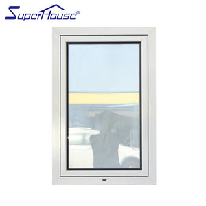Superwu 2021White color tilt and turn window double glazed awning windows factory supply