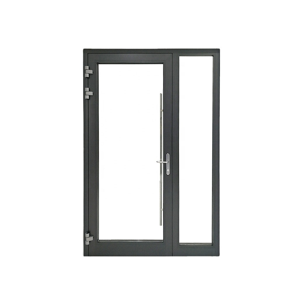 Superhouse 2021New design supplier exterior colored residential unequal aluminium glass double entry entrance front doors