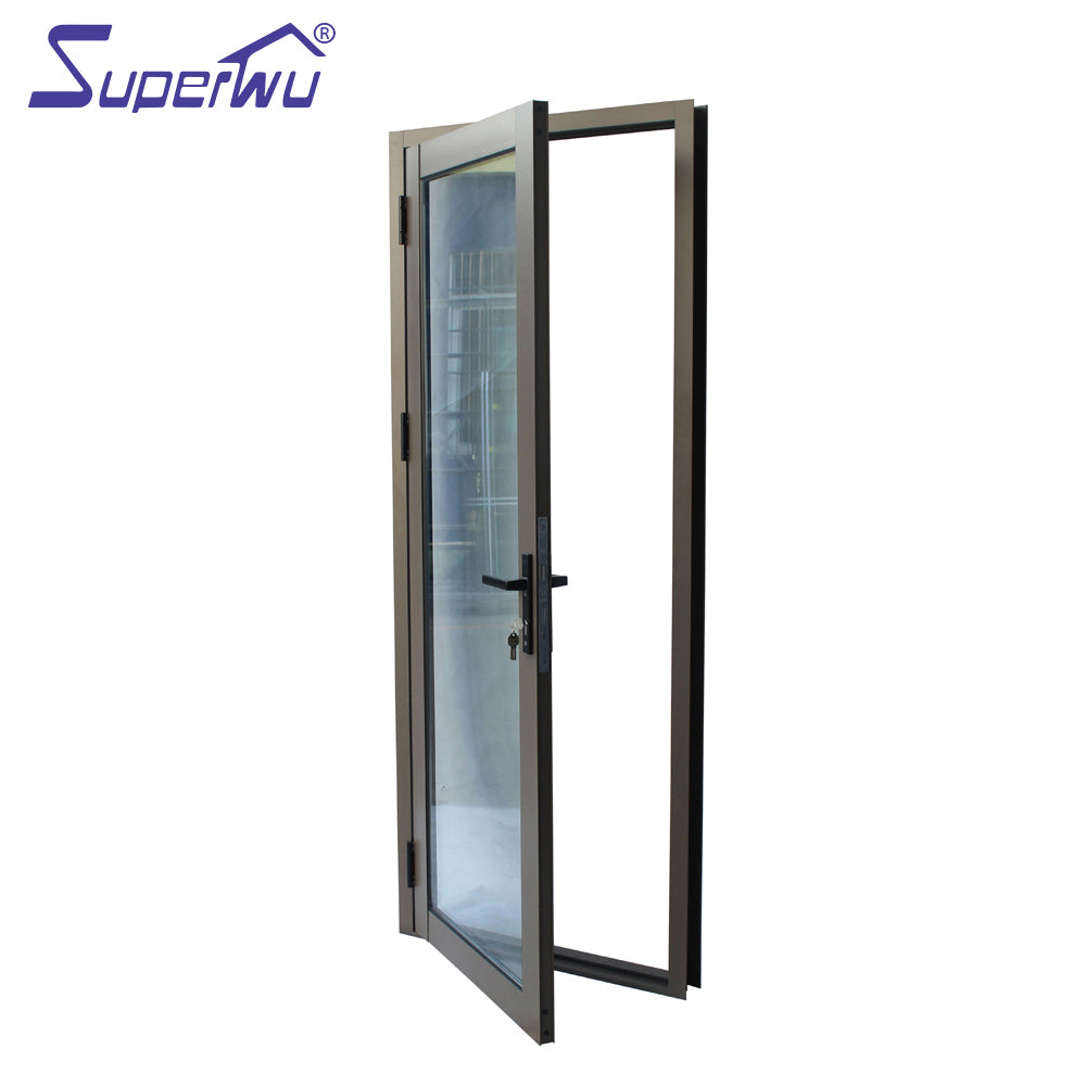 Superwu 2021Large Exterior Entry French Patio Doors Hurricane impact proof Aluminium Hinged Glass Doors French Doors