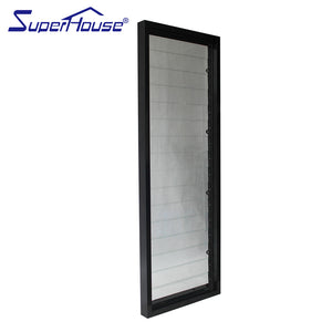 Superwu 2021Aluminum frame fixed glass windows sound proof and weather proof fixed louver windows