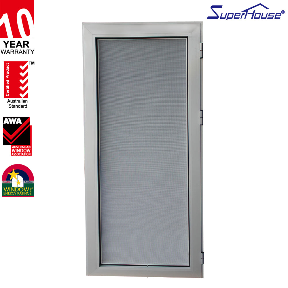 Superhouse 2021Aluminum Hinged Doors with Stainless Still Net