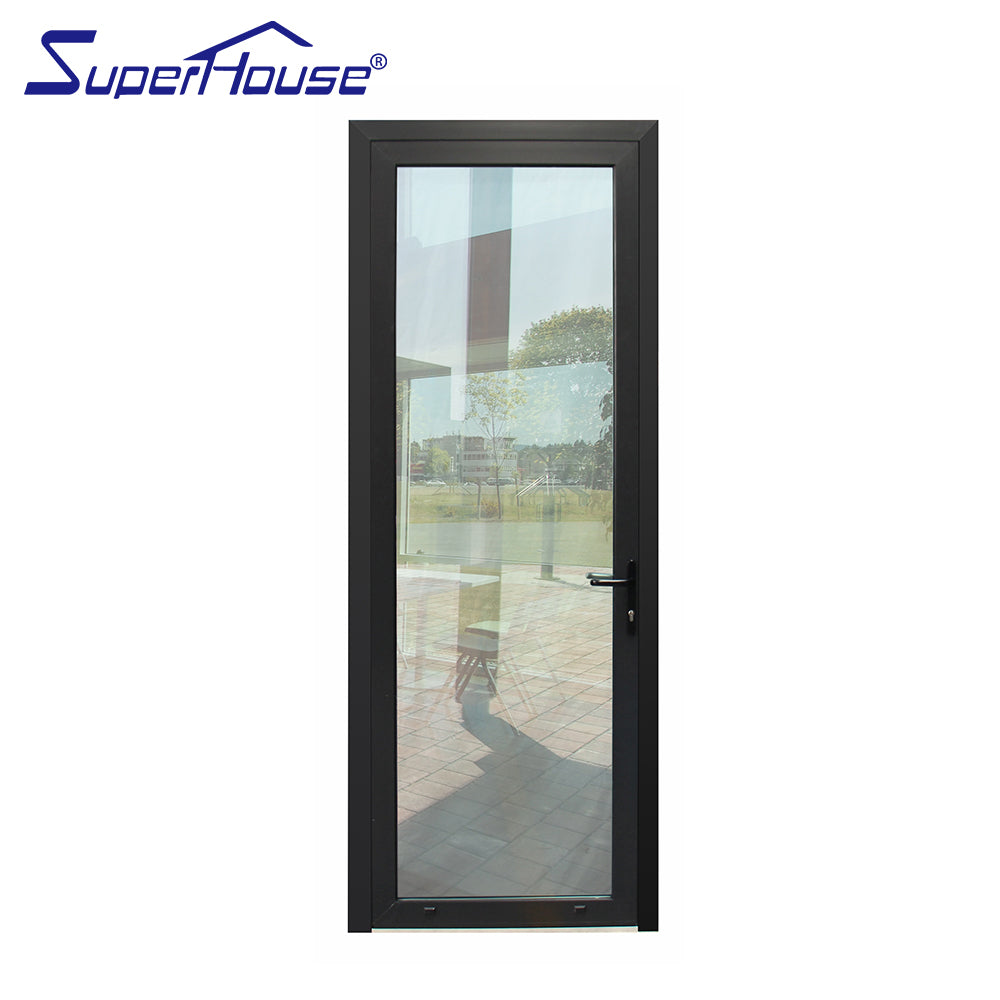 Superwu 2021Double glazed aluminum white color hinged door commercial french doors Australia standard
