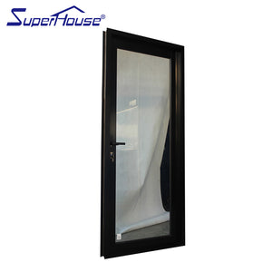 Superhouse 2021AS2047 NFRC AAMA NAFS NOA standard Thermal break double glass aluminium french doors for sales