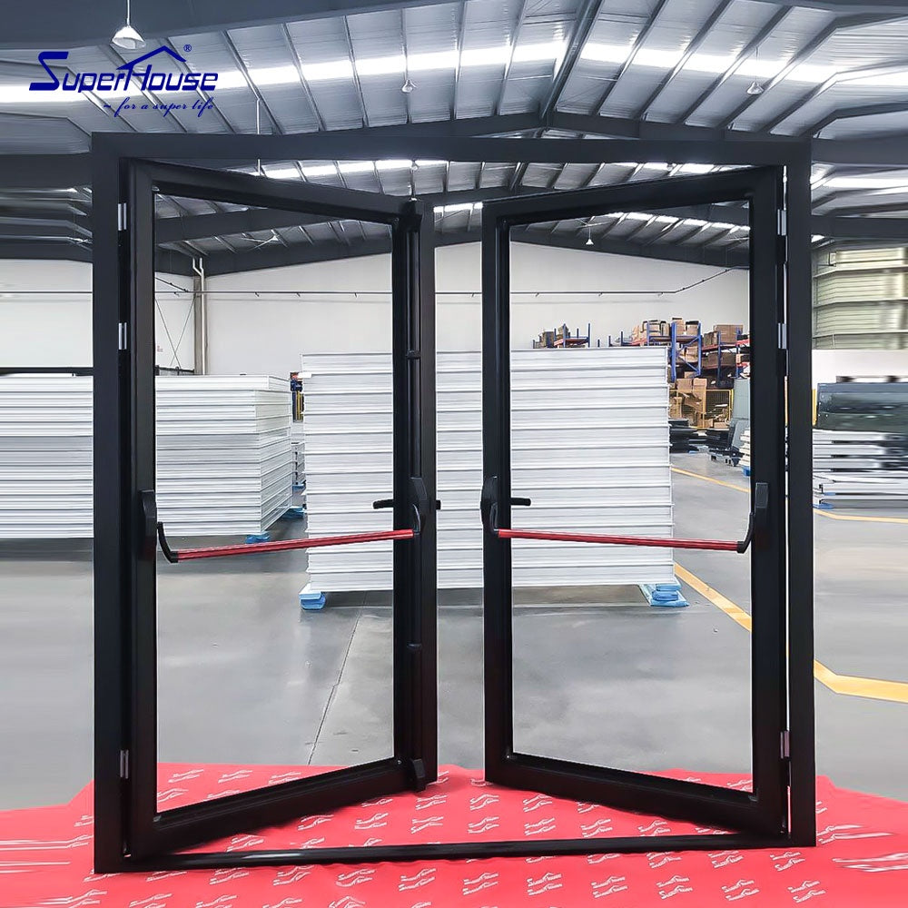 Superhouse 2021American standard Miami-Dade County Approved aluminium french doors/escape door