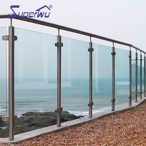 Superwu 2021Aluminum Glass Stainless Steel Balustrades Handrails